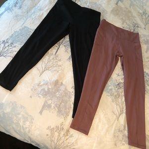 Victoria Secret leggings Size Lge 2 pair 1 or never worn
